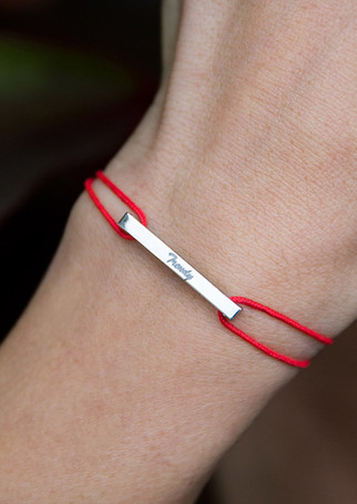Pack Beresheet - Glazed L silver + coral cord. Engrave your Klic through the dedicated section in the top menu