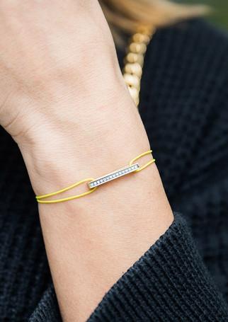 Pack Timeless - Diamond gold + neon yellow cord