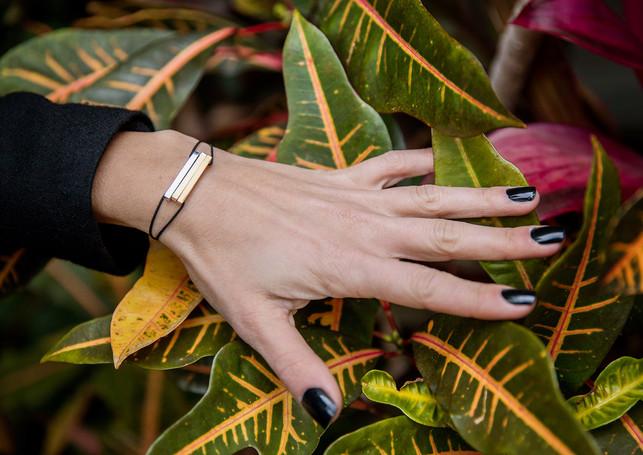 Pack Multilove - Glazed L gold, silver & rose gold + black cord