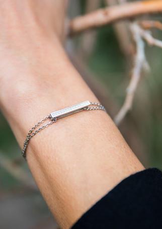 Pack Timeless - Diamond silver + silver chain-bracelet