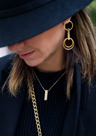 Pack Mix - Glazed S & Diamond gold + gold chain-necklace