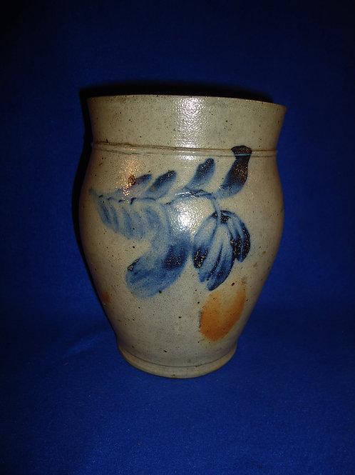 Circa 1860 Ovoid Jar with 3 Tulips, att. Richard Remmey of Philadelphia #5156