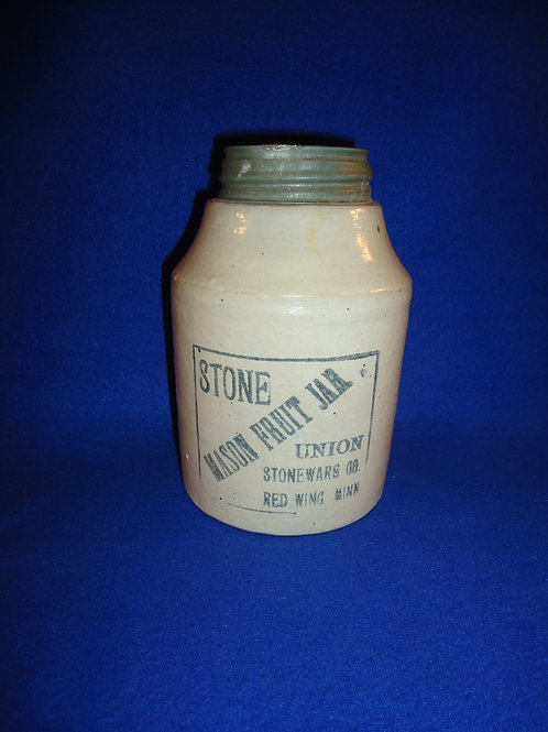Stone Mason Fruit Jar, Union Stoneware, Red Wing, Minnesota #4533