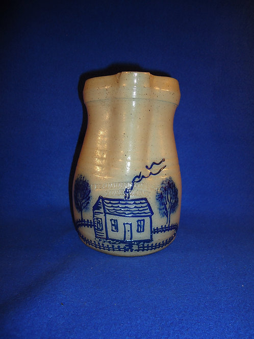 Beaumont Pottery, York, Maine Stoneware Pitcher with House #5076