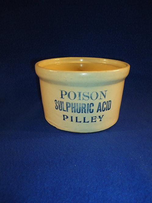 Poison, Sulphuric Acid, Pilley Stoneware Crock