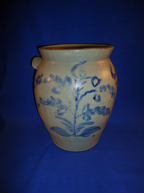 Circa 1830 3 Gallon Ovoid Jar with Plants, Baltimore, Maryland, #4709