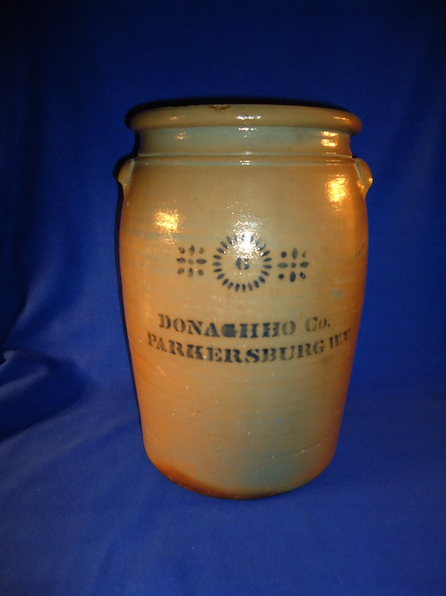 Donaghho Co., Parkersburg, West Virginia Stoneware 6 Gallon Jar