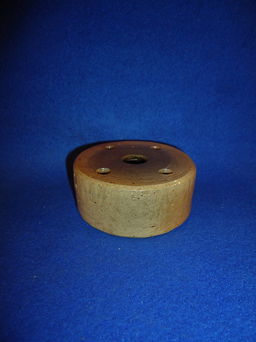 Early 19th Century Salt Glaze Stoneware Pillbox Inkwell #5038