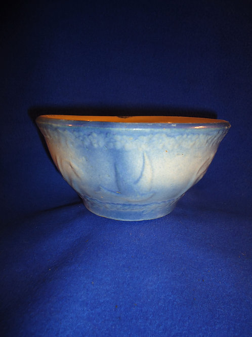 Blue and White Stoneware Bowl in the Flying Birds Pattern #5605