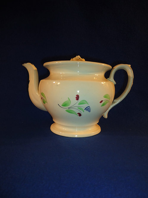 Circa 1830 Staffordshire Teapot with Delicate Florals