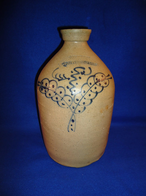 Somerset Potters Works, Somerset, Massachusetts Stoneware 1g Jug with Floral