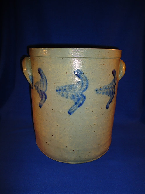 Signed Peter Hermann, Baltimore, Maryland Stoneware 4 Gallon Crock