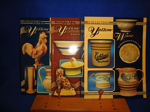 Three Yellow Ware Reference Books by McAllister for One Money, #4871