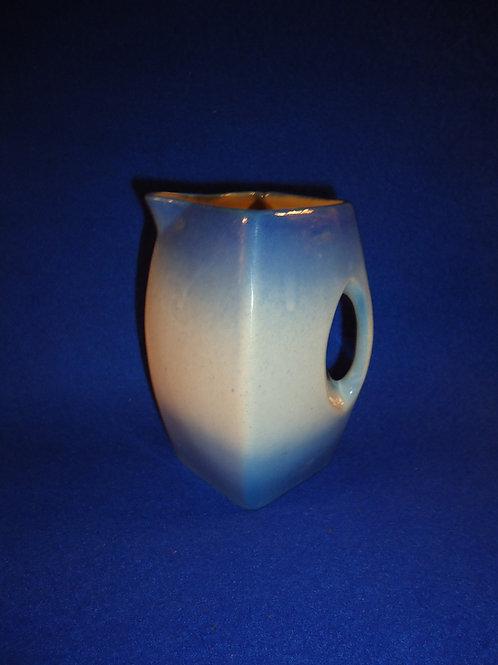 Blue and White Stoneware Pitcher by Western Stoneware, Monmouth, Illinois