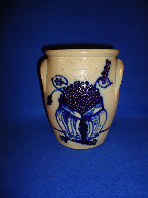 Beaumont Pottery, York, Maine Stoneware Cream Pot with Blueberries #5079