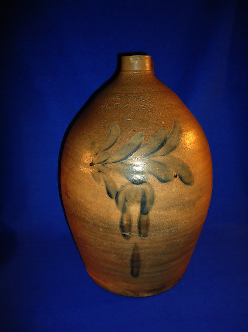 Pfaltzgraff, York, Pennsylvania Stoneware 4 Gallon Jug with Tulip