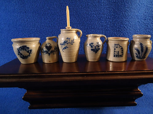 Six Miniature Stoneware Pieces for One Money, #4826