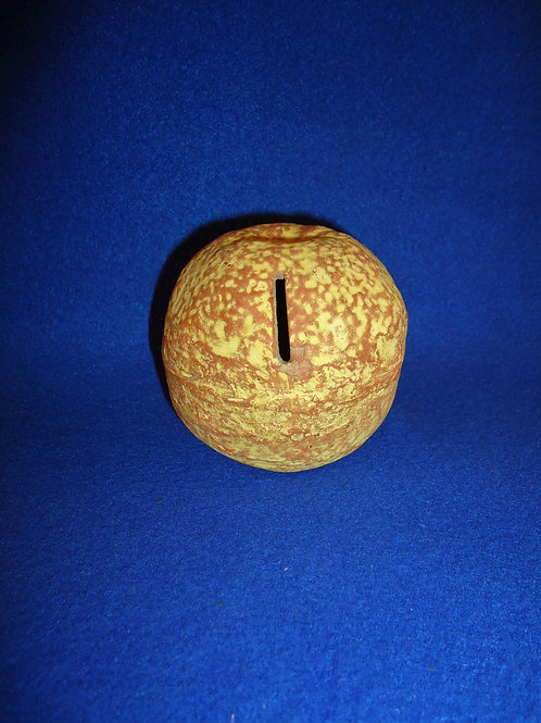 Stoneware Bank in the Form of an Orange, Cold Painted, #4804
