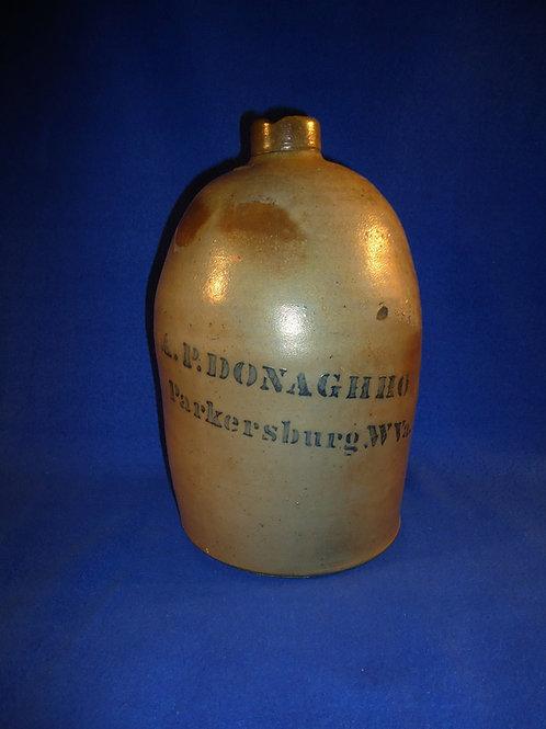 A. P. Donaghho, Parkersburg, West Virginia Stoneware 1 Gallon Jug
