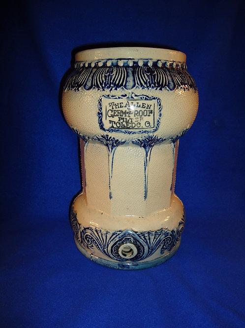 Allen Germ-Proof Filter, Toledo, Ohio Stoneware, Whites of Utica