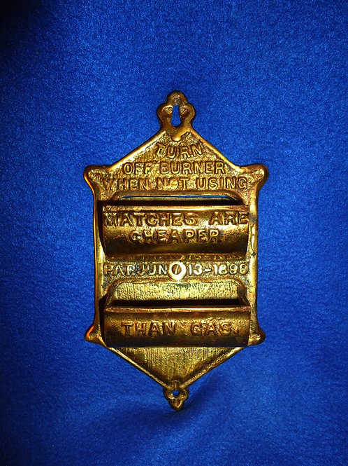 Brass Match Holder Patented June 13, 1899
