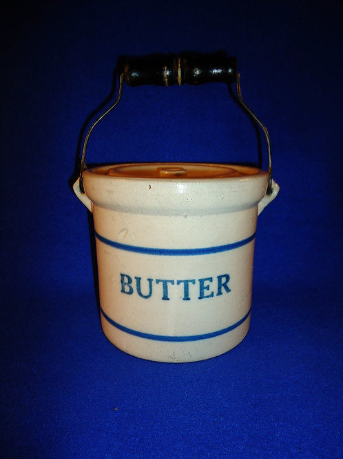 Blue and White Stoneware Butter Crock by Red Wing Union Stoneware Company