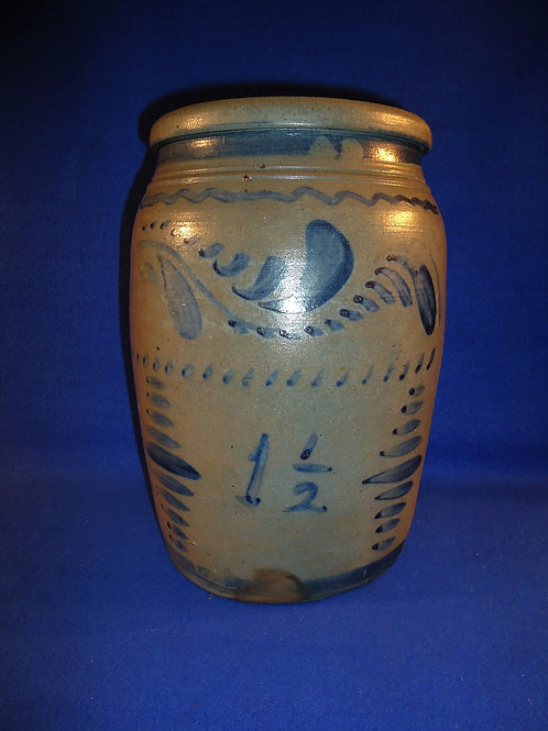 Circa 1870 1 1/2 Gallon Stoneware Jar from SW Pennsylvania #4671