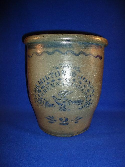 Hamilton & Jones,  Greensboro, Pennsylvania Cream Pot with Bird #4639