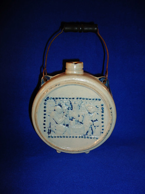 """Ennis, Texas, """"Brown's Private Stock"""" Stoneware Canteen by Whites of Utica, N.Y."""