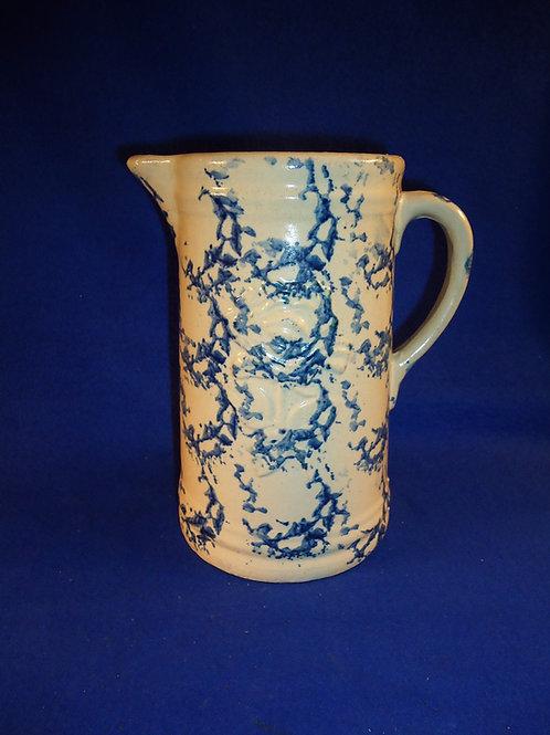Old Fashioned Garden Rose Stoneware Spongeware Pitcher