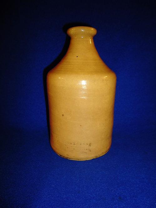 """19th Century Sharp's 8"""" Yellow Ware Bottle"""
