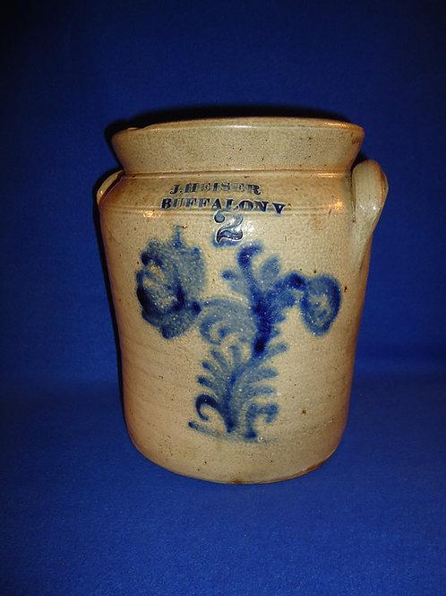 J. Heiser, Buffalo, New York Stoneware 2 Gallon Preserve Jar #5874