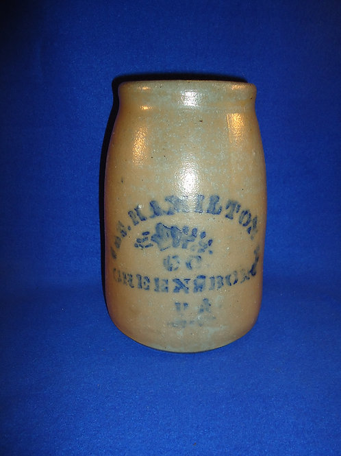 James Hamilton, Greensboro, Pennsylvania Stoneware Wax Sealer #4731