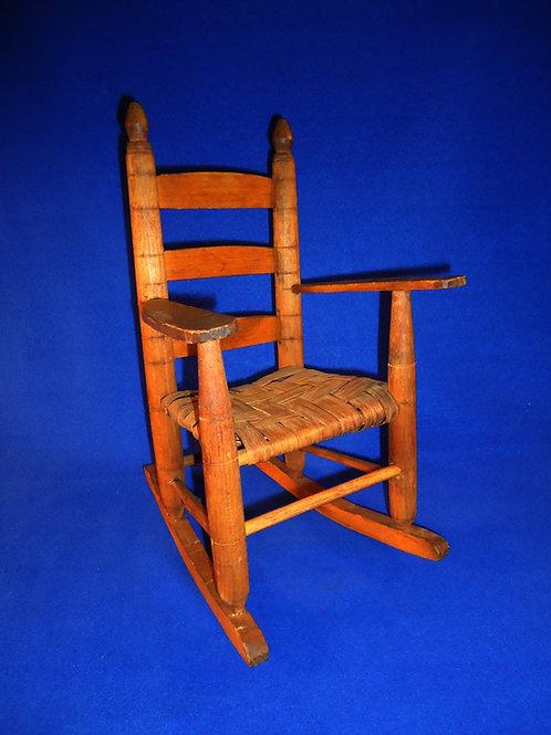 Handmade Toy or Doll Ladderback Rocking Chair