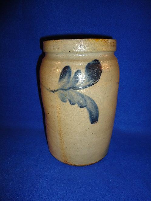 "Circa 1870 Stoneware 8 3/4"" Jar, att. Richard Remmey of Philadelphia"