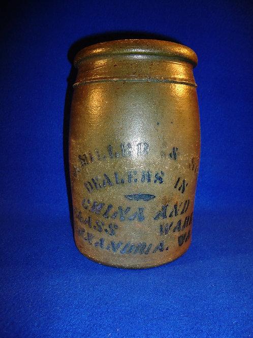 E. J. Miller, Alexandria, Virginia 1/2 Gallon Stoneware Jar
