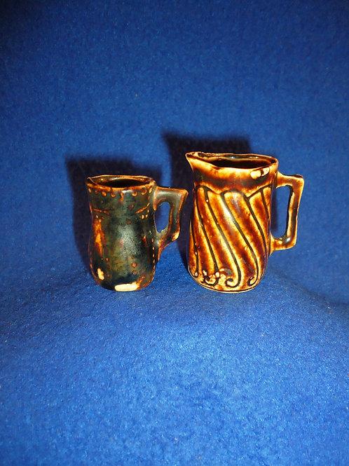 Pair of Miniature Stoneware Pitchers