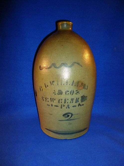 C. L. Williams, New Geneva, Pennsylvania 2 Gallon Stoneware Jug