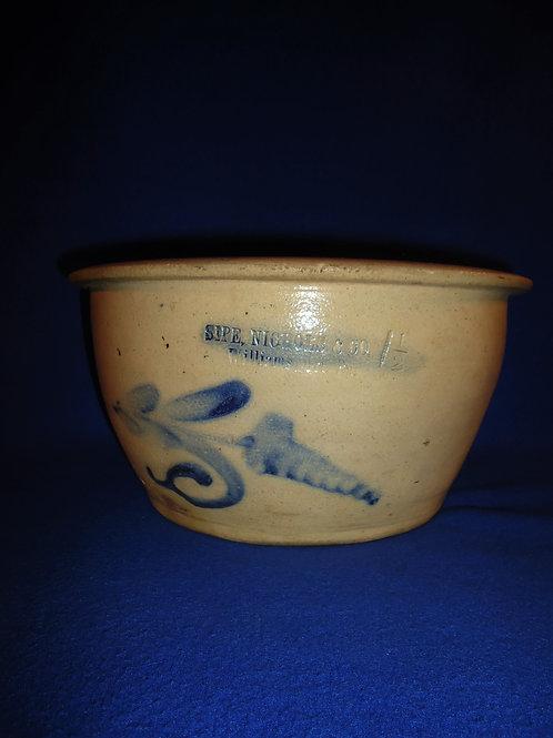Sipe and Nichols, Williamsport, Pennsylvania Decorated Stoneware Bowl #5726