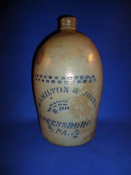 Hamilton & Jones,  Greensboro, Pennsylvania 1 Gallon Jug #5827