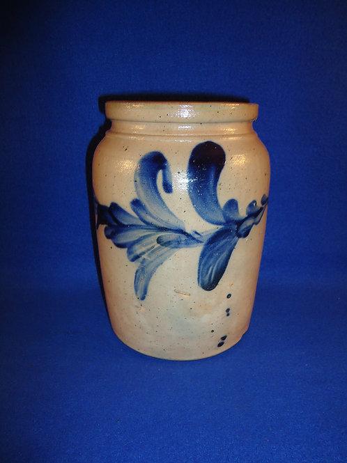 Gorgeous Stoneware Jar with Bountiful Bold Cobalt, #4938