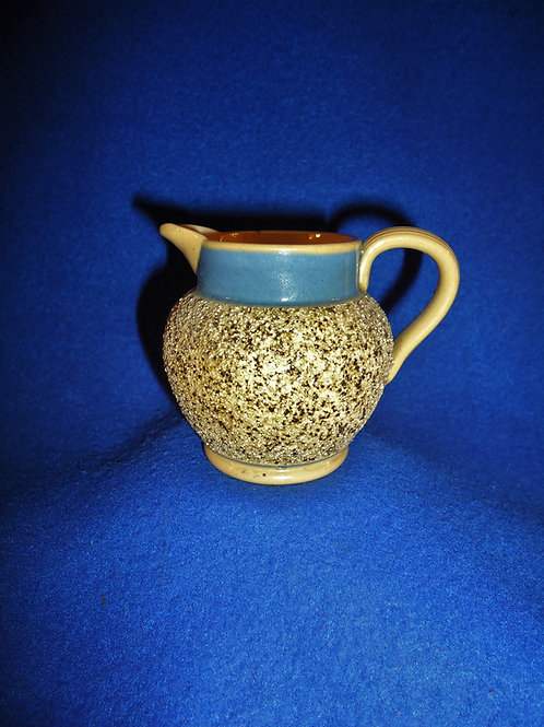 Miniature Yellow Ware Pitcher with Sand Banding