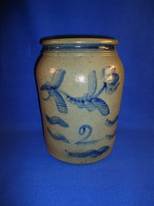 Circa 1870 2 Gallon Jar from Southwestern Pennsylvania, #4882