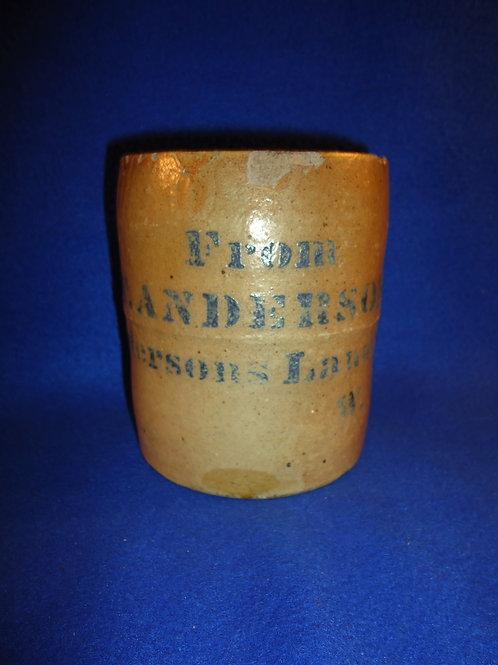 T. A. Anderson, Andersons Landing, West Viginia Stoneware Wax Sealer