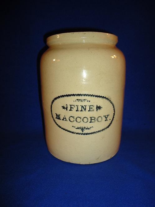 Fine Maccoboy Snuff Stoneware Jar
