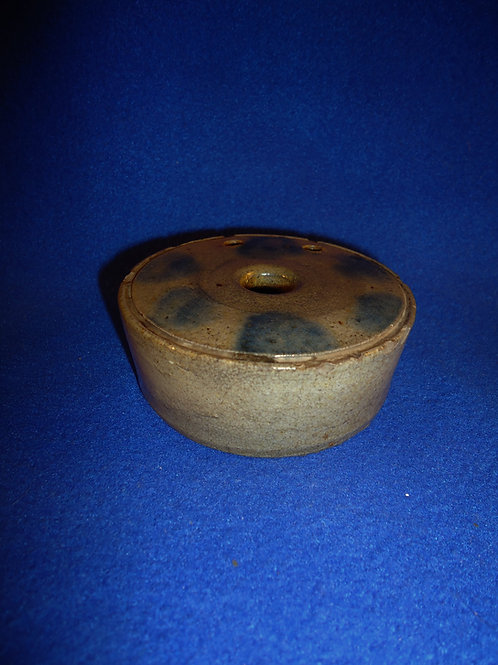 Circa 1815 Stoneware Inkwell with Cobalt Dots, att. New York