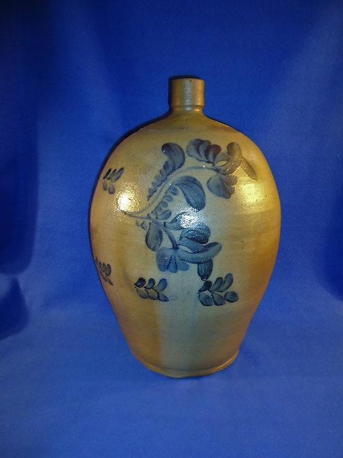 Beaver, Pennsylvania 4 Gallon Stoneware Jug with Flowers, #4859