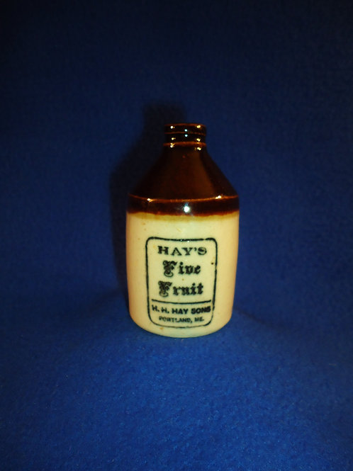 Hay's Five Fruit Stoneware Mini Jug from Portland, Maine