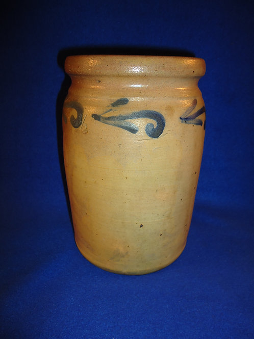 Wingender, Haddonfield, New Jersey Stoneware 1/2 Gallon Jar with Leaves