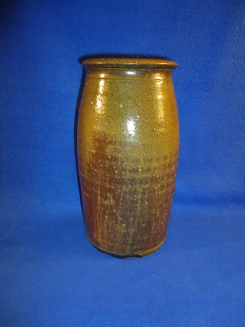 19th Century North Carolina 1 Gallon Stoneware Jar with Alkaline Glaze #5686